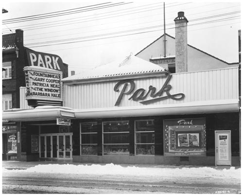 Marquee and exterior of Park Theatre, Toronto