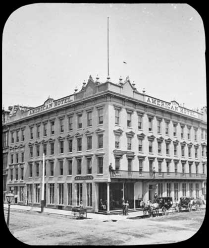 The American Hotel at the north-east corner of Yonge and Front streets, Toronto