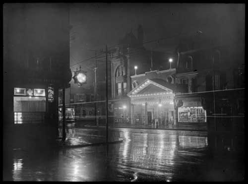 View of the Cosmopolitan Theatre at Yonge Street and Gould Avenue, Toronto